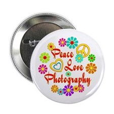"Peace Love Photography 2.25"" Button"