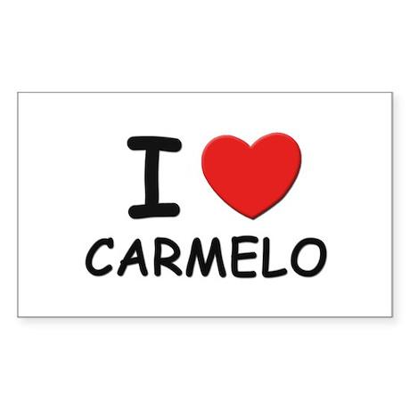 I love Carmelo Rectangle Sticker