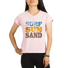 Surf, Sun, Sand Peformance Dry T-Shirt