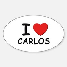 I love Carlos Oval Decal
