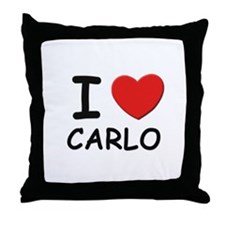 I love Carlo Throw Pillow