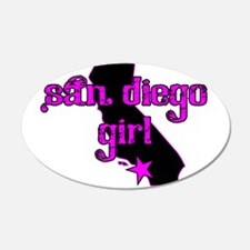 san diego girl shirt Wall Decal