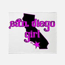 san diego girl shirt Throw Blanket