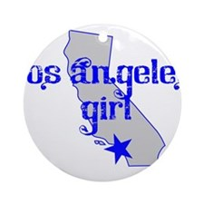 los angeles girl shirt Ornament (Round)