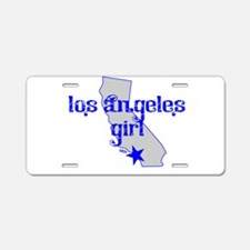 los angeles girl shirt Aluminum License Plate