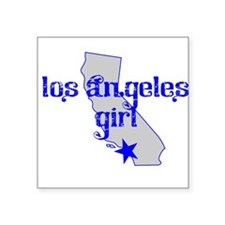 los angeles girl shirt Sticker
