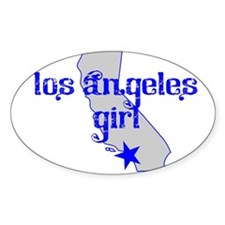 los angeles girl shirt Decal