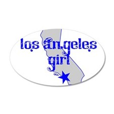 los angeles girl shirt Wall Decal