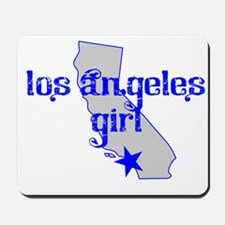 los angeles girl shirt Mousepad