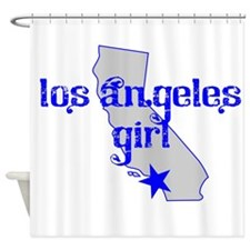 los angeles girl shirt Shower Curtain