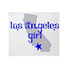 los angeles girl shirt Throw Blanket