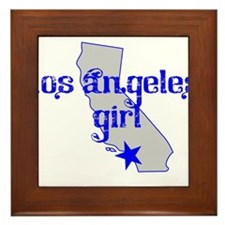los angeles girl shirt Framed Tile