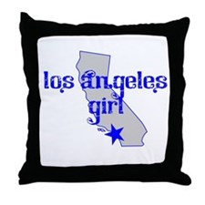 los angeles girl shirt Throw Pillow