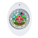 Medical Marijuana Ornament (Oval)