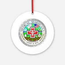 Medical Marijuana Ornament (Round)