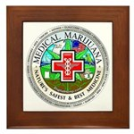 Medical Marijuana Framed Tile