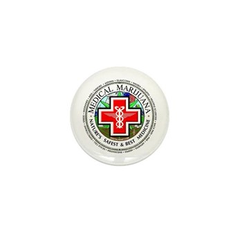 Medical Marijuana Mini Button