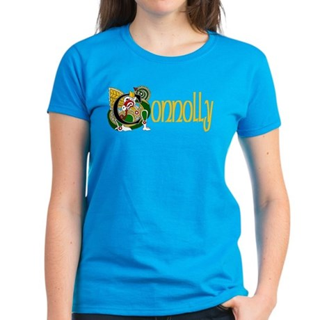 Connolly Celtic Dragon Women's Dark T-Shirt