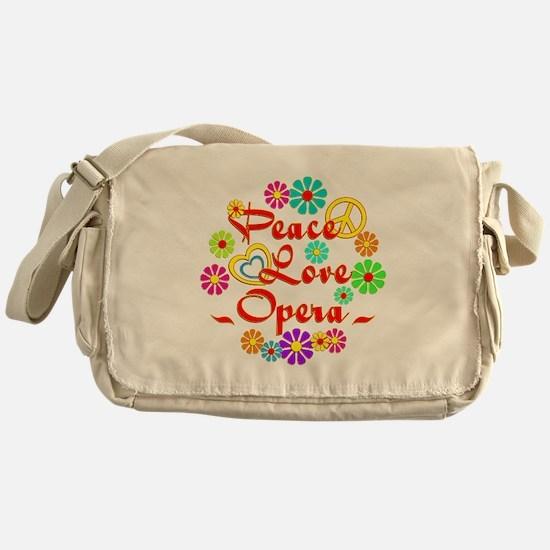 Peace Love Opera Messenger Bag