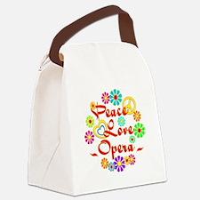 Peace Love Opera Canvas Lunch Bag