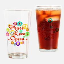 Peace Love Opera Drinking Glass