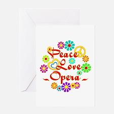Peace Love Opera Greeting Card