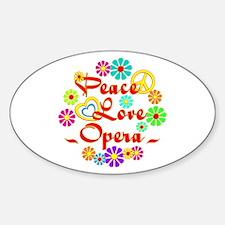 Peace Love Opera Decal