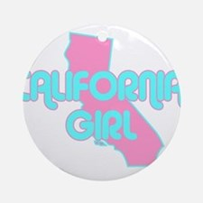 CALIFORNIA GIRL SHIRT Ornament (Round)