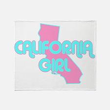 CALIFORNIA GIRL SHIRT Throw Blanket