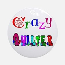 Crazy Quilter Ornament (Round)