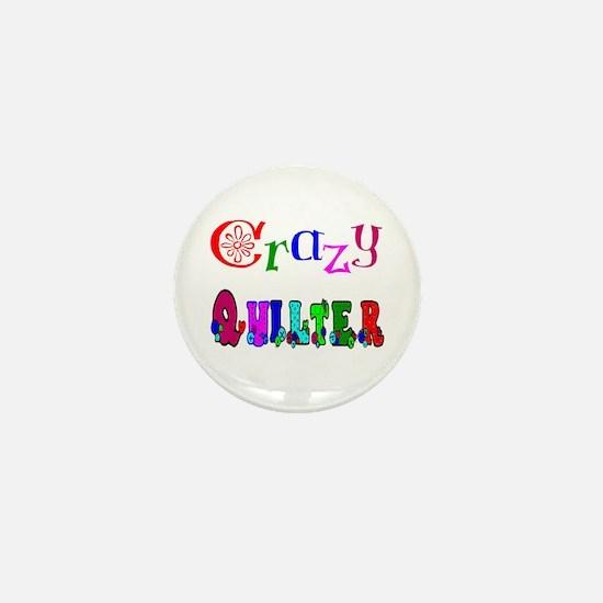 Crazy Quilter Mini Button