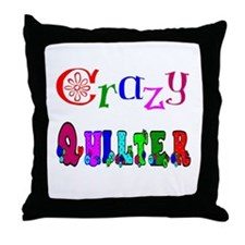 Crazy Quilter Throw Pillow