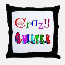 Crazy Quilter Throw Pillow