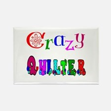 Crazy Quilter Rectangle Magnet