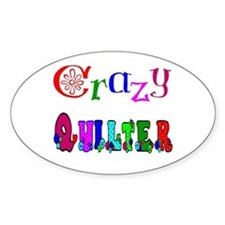 Crazy Quilter Oval Decal
