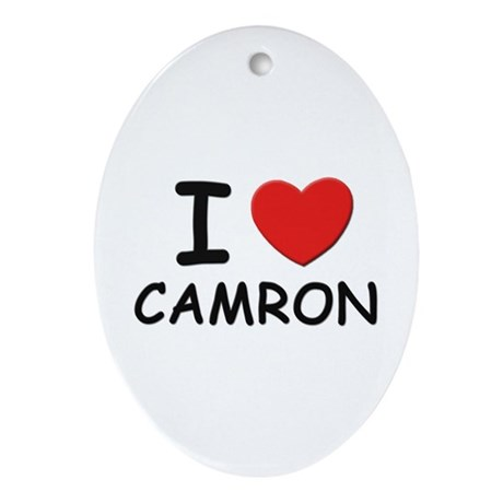 I love Camron Oval Ornament