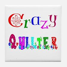 Crazy Quilter Tile Coaster
