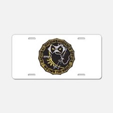 National Recon Office Aluminum License Plate