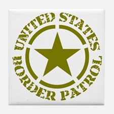border-patrol Tile Coaster