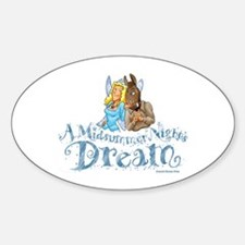 A Midsummer Night's Dream Oval Decal