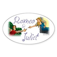 Romeo and Juliet Oval Decal