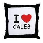 I love Caleb Throw Pillow