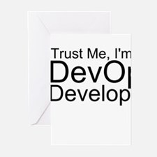 Trust Me, I'm A DevOps Developer Greeting Card