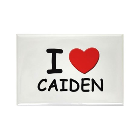 I love Caiden Rectangle Magnet