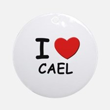 I love Cael Ornament (Round)