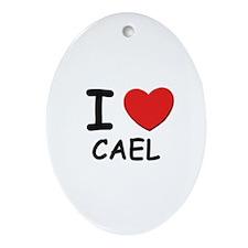 I love Cael Oval Ornament