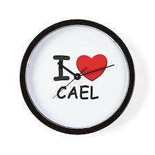 I love Cael Wall Clock