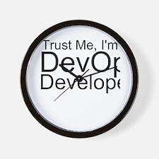 Trust Me, I'm A DevOps Developer Wall Clock