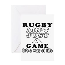 Rugby ain't just a game Greeting Card