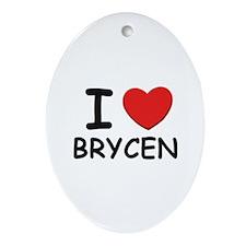 I love Brycen Oval Ornament
